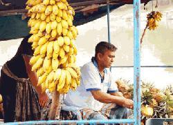 কাপ্তাই লেকে ফরমালিন মুক্ত ভাসমান ফলের হাট