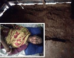 শিবগঞ্জে স্ত্রীকে জীবন্ত কবর দেওয়ার চেষ্টা : স্বামী আটক