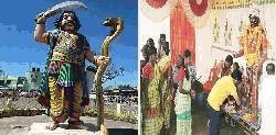 দুর্গাকে নয় মহিষাসুরকে ভগবানরূপে পূজা করে ভারতের অসংখ্য লোক