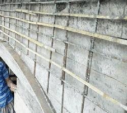 বান্দরবানে সরকারি মহিলা কলেজ নির্মাণে রডের পরিবর্তে বাঁশ!