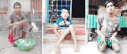 নবাবগঞ্জের বর্দ্ধনপাড়ায় ৩ শারীরিক প্রতিবন্ধীর মানবেতর জীবনযাপন