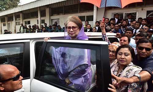 আত্মসমর্পণে জামিন মিললো খালেদা জিয়ার