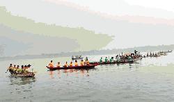 কর্ণফুলীতে নৌকা বাইচ প্রতিযোগিতা