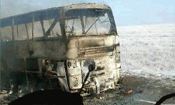 কাজাখস্তানে যাত্রীবাহী বাসে আগুন, নিহত ৫২