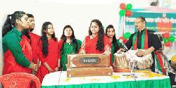 সদরপুরে উপজেলা পর্যায়ে শুদ্ধভাবে জাতীয় সংগীত প্রতিযোগিতা
